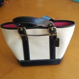 Coach Woven Pattern Small Bucket Bag